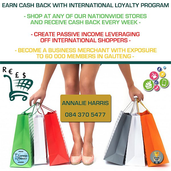 International Loyalty program. This logo was designed by Business Connect 360 in Johannesburg South Africa